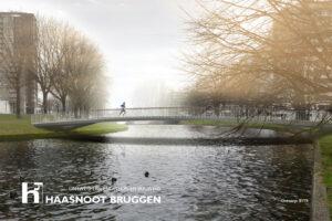Ultra slanke brug in Amsterdam.