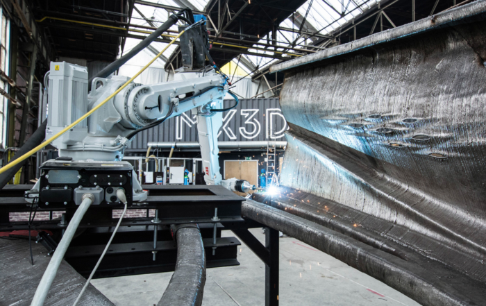 MX3D announced it has partnered with Haasnoot Bruggen to bring 3D metal printing