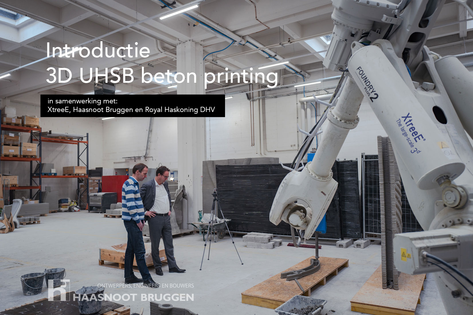 3d large scale beton uhsb printing in Nederland