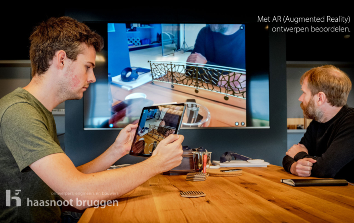 Augmented Reality of AR in de bruggenbouw